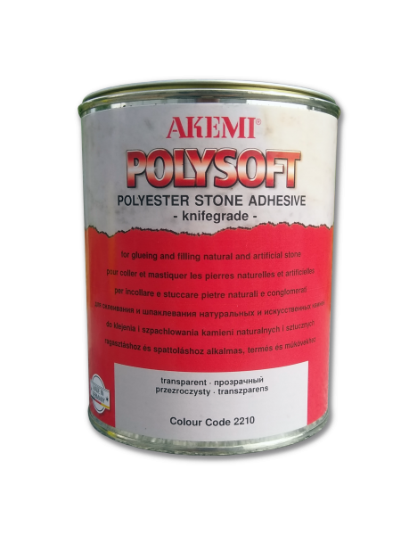 Клей-шпаклевка Poly-soft Transparent 1,05 kg AKEMI 10481