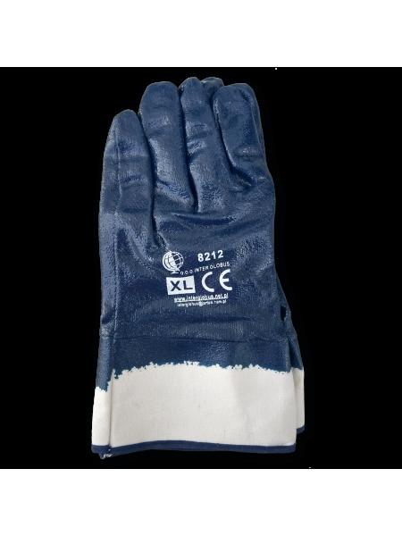 Перчатки Нитрил-премиум с жестким манжетом